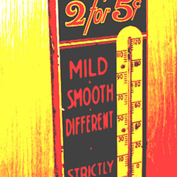 Dry-Slitz Cigar Thermometer - Advertising