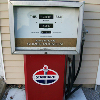 "Recon ""AMERICAN OIL CO."" gas pump - Petroliana"