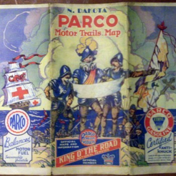 Miscellaneous Vintage Road Maps 1  - Petroliana