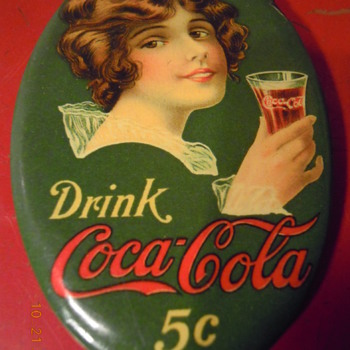 1914 Coca-Cola Pocket Mirror - Coca-Cola