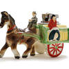Japanese ceramic horse and cart table lighter