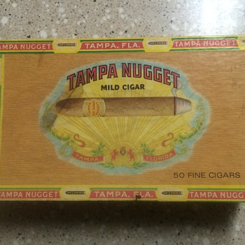 Tampa Nugget cigar box