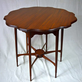 A Morris & Co mahogany occasional table by George Washington Jack - Arts and Crafts