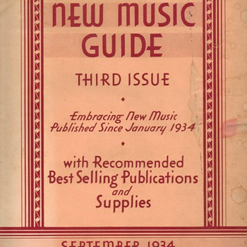 1934 Gamble Music Company Catalog - Paper