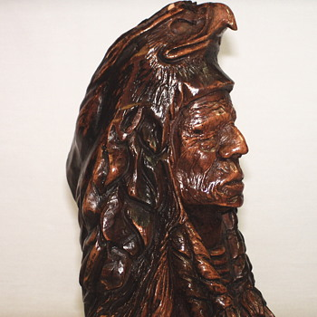 "Thomas B Maracle, Carving""Spirit Guide""XX Century"