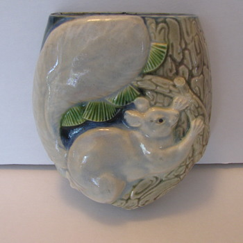 Chinese Wall Pocket with rat climbing  a branch