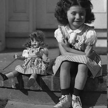 Old Photo of Girl and Her Doll 1930's - Dolls
