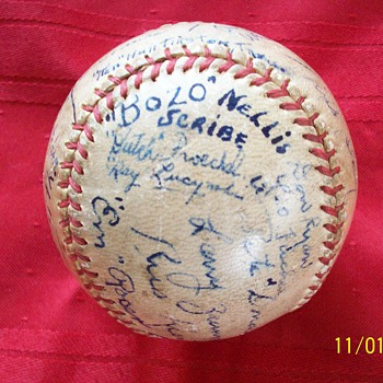1937 College signed Ithaca Bombers  - Baseball