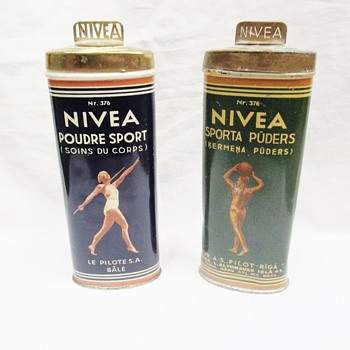 Nivea SPORT Body powder luxury tin made for Olympic Games in Berlin 1936