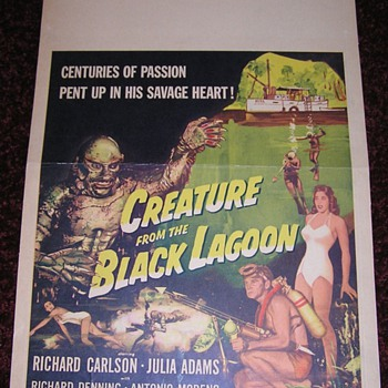 CREATURE FROM THE BLACK LAGOON - US Window Card