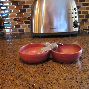 Van Briggle Double Sided Nut Bowl  (1927 to 1935)