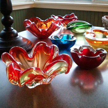 Vaseline Glass - My Favorite Ashtray - Art Glass