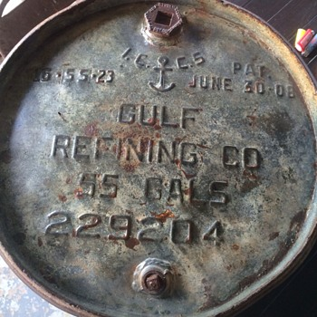 Gulf Oil Barrel