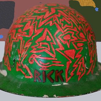 1960s Psychedelic Hippie Folk Art - Rick's Construction Helmet