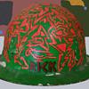 1960s Psychedelic Hippie Folk Art - Rick's Construction Helmet