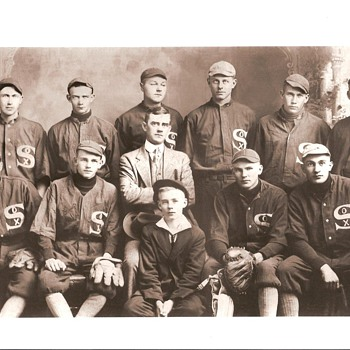 1910s Photo of my Grandfather's Baseball Team - Baseball