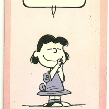 1952,1960p peanuts  character b-day cards
