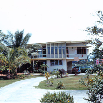 Our House we lived in Thailand 1962, and view from Balcony twords street
