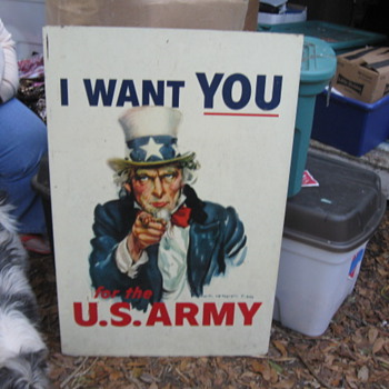 "38"" x 22"" Metal Uncle Sam Sign - Signs"