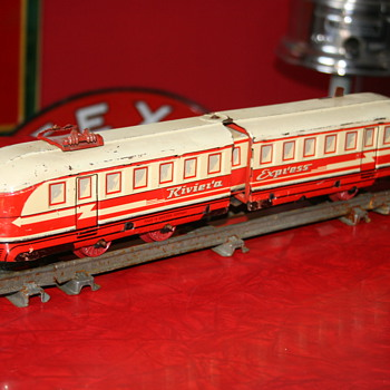 Distler train tin toy Riviera Express - Model Trains