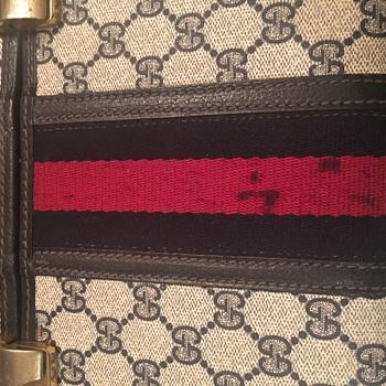 Vintage Gucci Train Case Webbing Repair - Bags