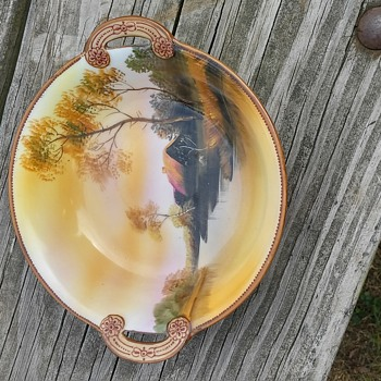 Noritaki painted dish
