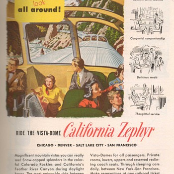1951 - Western Pacific Railroad Advertisements