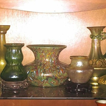 Loetz Ozone, Mini's, Olympia, Ausf 237, Ewers & More Vases