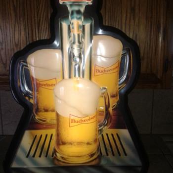 Vintage Budweiser sign - Breweriana