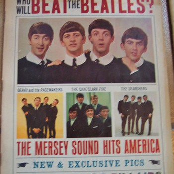 "1964 ""Who will beat the Beatles?"" Beatles Magazine - Music"