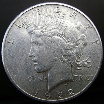 My really strange 1922-S Peace Dollar