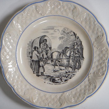 2 Antique Hautin & Boulenger 'Uncle Tom' Plates~Choisy~Age?, Beautiful&Interesting