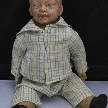 Antique German Bisque BoyBoy Doll