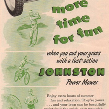 1950 Johnston Lawn Mower Advertisement - Advertising