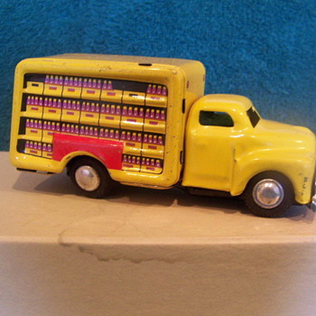 "1950's - 4"" Japan Friction Coca-Cola truck"