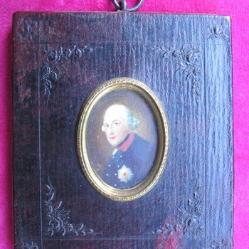 Portrait miniature on ivory of Frederick the Great  - Victorian Era
