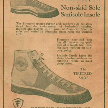 1932 Firestone Footwear Advertisement - Advertising