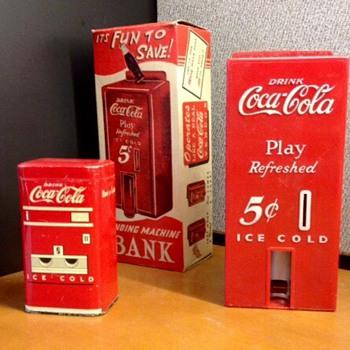 1950's Coca Cola Bank and 1931 Sandwich Plate - Coca-Cola