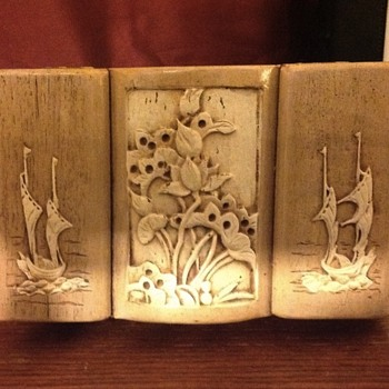 2 mystery jewelry boxes with hutch - Asian