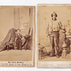 Letter to return uniform 1867, 2 cabnite cards front/back