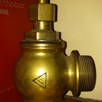 ca. 1921 brass fire-hose water valve
