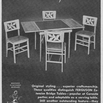 1950 Ferguson Furniture Advertisement - Advertising