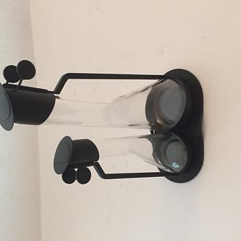 Very Rare black Achilli Castiglioni Cruet Set