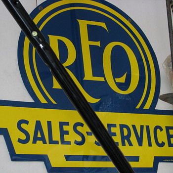REO sign, Never used!!!
