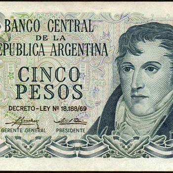 Argentina - 5 Pesos Bank Note