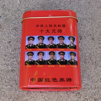 Kitschy tin litho cigarette boxes from China trip 2007 - Tobacciana