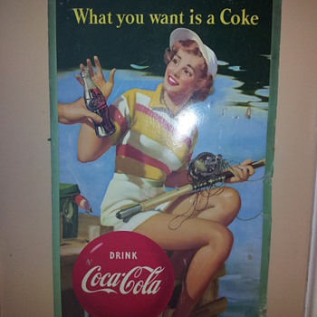 Coca Coca Large Cardboard Sign