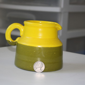 Mid-Century pitcher  inside