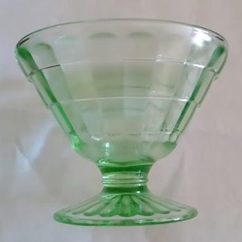 Four Green Sherbet Bowls