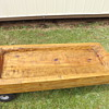 Big Huge Wood Craved out. ?Dough Bowl Trench Table Rustic
